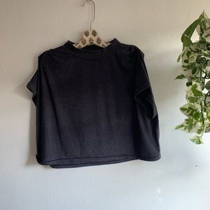 Jersey Crop Top with Sleeve detail